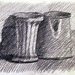 Копия Джорджио Моранди. Использование штриховки