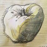 Рисуем яблоко  Дмитрия Митрохина. Акварель.